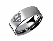DC Comics SUPERMAN SYMBOL Logo Stainless Steel BAND RING - Men's Size 13
