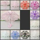 "22"" Child Kids Flower Girl handmade Parasol Lace Sun Umbrella Bridal Wedding"