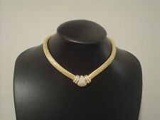 Vintage Christian Dior choker necklace pave rhinestones 16""
