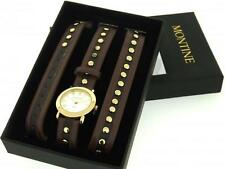 MONTINE MOW3961LSW LADIES STUDS STRAP CUFF WATCH