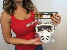 New Vintage Motocross Face Mask Goggles AHRMA Dirt Bike Urban White old school