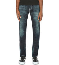 NWT TRUE RELIGION JEANS $369 MENS ROCCO SKINNY SUPER T PANTS IN DRY BRUSH SZ 29