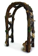 Miniature Fairy Garden  Wooden Arbor/  Arch w/ Birds and Bunny MG74