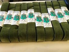 "Vintage 1940's FRENCH VELVET Ribbon Mossleaf 1 1/2""All Rayon Made in Switzerland"