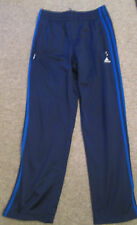 ADIDAS - DARK BLUE/LIGHT BLUE 3 STRIPS ZIP CUFF TRACKI  bottoms size SMALL