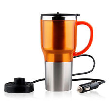 Electric Kettle Boiled Water Bottle Heating Cup for Car Travel Stainless Steel