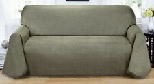 BLUE---MATRIX WASHABLE SOFA COUCH COVER---ALSO COMES IN  GREYISH GREEN & BROWN