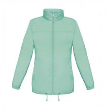 LADIES SIROCCO SHOWERPROOF JACKET, WOMENS WINDPROOF RAIN COAT, 13 COLS, FOLDAWAY