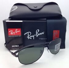 Ray-Ban Sunglasses RB 8301 002 Tech 56-14 Black & Carbon Fiber Frame G-15 Lenses