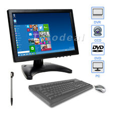 "10"" IPS Color CCTV PC HD Touch Screen Monitor 175° Video HDMI 1280*800 w/Speaker"