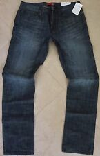 Guess Slim Straight Leg Jeans Men's Size 38 X 32 Ultra Slim Dark Distressed Wash