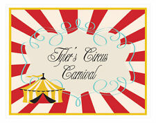 Personalized Circus Carnival Theme Sign Birthday Party Decoration