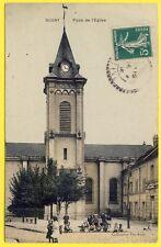 cpa 93 - DUGNY (Seine Saint Denis) Place de l' Eglise Animé Enfants