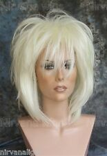 LARGE FIT... White Blonde Layered Womans Nirvana Tina Turner Drag? Wig