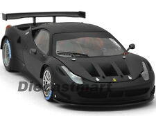 ELITE FERRARI 458 ITALIA GT2 MATT BLACK 1:18 DIECAST MODEL CAR HOTWHEELS BCK09