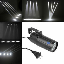 White LED Pin Spot Light Narrow Beam Pinspot DJ Mirror Ball Spotlight For Party