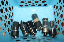 6SA7 GLASS VINTAGE TUBE - GE, RCA &  ETC. - TEST STRONG