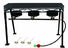 Portable Propane Gas 3 Burner Cooker Cooking Stoves Outdoor Camp Stove BRANDNEW