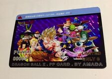 Carte dragon ball - PP card prism limited fancard japan SP family power