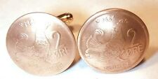 Coin Jewelry~Old Norway Grouse coin cuff links-handmade in the USA