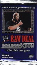 WWE RAW DEAL CCG - Insurrextion Cards Booster Packs (19) by Comic Images #NEW