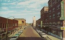 View of Business Section in Downtown Dodge City KS Postcard