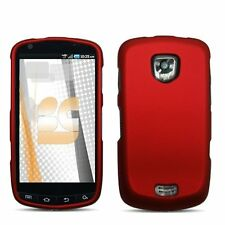 Hard Rubberized Case for Samsung Droid Charge 4G LTE i510 - Red