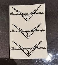 Set of 3 CUSTOM SHOP Waterslide Guitar Headstock Decals (CLEAR)