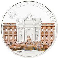 Palau 2012 5$ World of Wonders VI Trevi Fountain Silver Coin LIMIT 2500