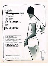 PUBLICITE  1963   BAN-LON KANGOUROU slips sous vetements par GOUDE
