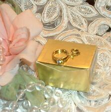 ESTEE LAUDER WITH THIS RING CHARM NIB / Gold Tone