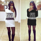 Womens Autumn Winter Casual Long Sleeve Sweater Slim BodyCon Mini Dress Hoodies