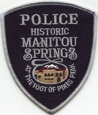 MANITOU SPRINGS COLORADO CO At The Foot of Pikes Peak POLICE PATCH