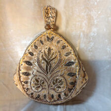 ANTIQUE FRANCE BEADED PURSE HANDBAG VICTORIAN ART NOUVEAU DANCE