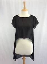BNWT Mint Velvet size 8 black sheer top ladies