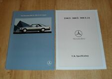 Mercedes Benz 230 CE 300 CE 300 CE-24 Coupe Brochure 1990 W124