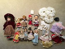 10 Collectible 1970's/1980's Dolls.  10 different vintage dolls.  Plus Clothing