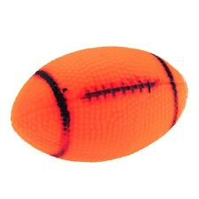 Non-toxic Vinyl Pet Dog Puppy Squeak Chew Play Toy Ball American Football