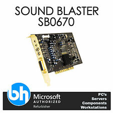 HP Sound Blaster Creative Labs X-Fi SB0670 Internal Sound Card PCI 417723-001