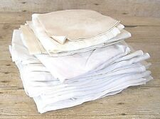 Lot of 30 Vintage White & Ivory Napkins Damask and Linen