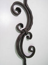 "IRON 44¼"" SOLID**HAMMERED SCROLL PORCH BALUSTER STAIR RAIL BRONZE**NNB***"