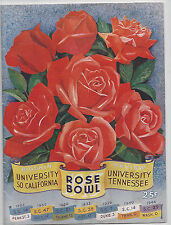 1945 Tennessee Southern Cal USC original Rose Bowl football program