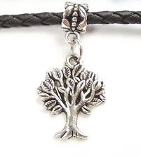 Tree of Life Dangle Large Hole Slider Add a Bead fit European Charm Bracelet