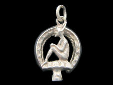 Cornish Pixie Horseshoe Charm Sterling silver 925 charmmakers