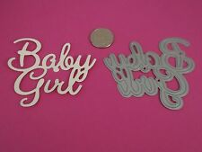 New Tonic Sentiments BABY GIRL Single Large Die 9cm x 7.5cm