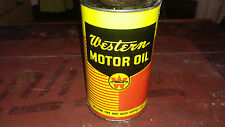 RARE WESTERN MOTOR OIL QUART CAN SIGN CANADA