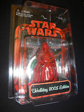 Star Wars *HOLIDAY DARTH VADER action figure 2005 Edition NEW Case RED Exclusive