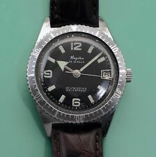 Vintage 60's KINGSTON Broad Arrow Divers Watch Beautiful Dial Rotating Bezel