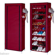 9 Layer Shoe Rack Organizer (maroon)