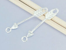 925 Sterling Silver 2 Arrow Connectors,Links 3x23mm.